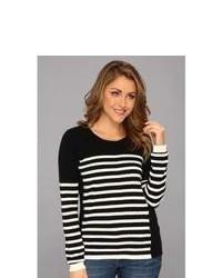 NYDJ Striped Color Block Sweater Sweater Blackwhite