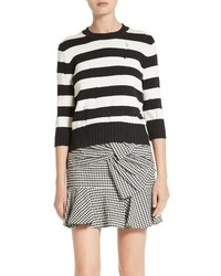 Veronica Beard Stripe Drop Stitch Sweater