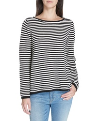 Eileen Fisher Stripe Organic Cotton Chenille Sweater