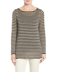 Eileen Fisher Stripe Organic Linen Top