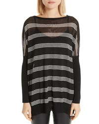 Lafayette 148 New York Stripe Slouch Pullover