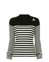 Tu Es Mon Trésor Striped Rib Knit Sweater
