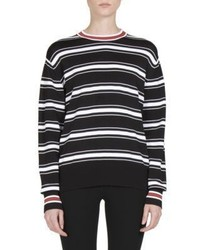 Givenchy Striped Side Zip Detail Sweater