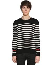Saint Laurent Striped Wool Knit Sweater