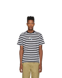 Noah NYC Black And White Striped Bouquet T Shirt