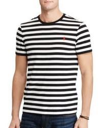 Polo Ralph Lauren Custom Slim Fit Striped Cotton T Shirt
