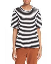 A.L.C. Joels Cutout Back Stripe Linen Tee