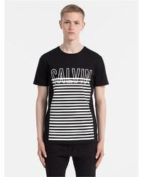 Calvin Klein Outline Logo Striped T Shirt