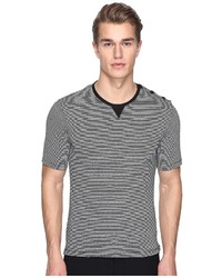 The Kooples Sport Striped Cotton Linen T Shirt
