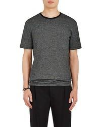 Striped cotton blend jersey t shirt medium 6739295