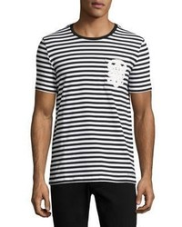 Burberry Striped Cotton Crew Tee