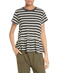 The ruffle stripe tee medium 3650148