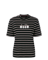 MSGM X Diadora High Neck Striped T Shirt