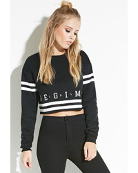 Forever 21 Civil Cropped Pullover