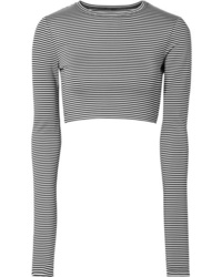 Marc Jacobs Cropped Striped Stretch Jersey Top