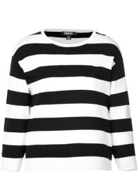 DKNY Striped Cropped Pullover