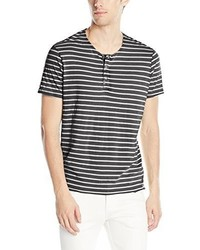 Calvin Klein Jeans Short Sleeve Wash Stripe Henley Shirt