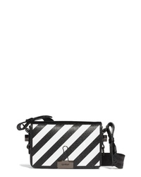 Off-White Diagonal Stripe Mini Flap Bag