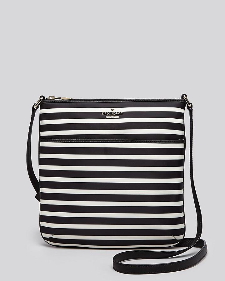 0d3e8661e ... Black and White Horizontal Striped Leather Crossbody Bags Kate Spade  New York Crossbody Classic Nylon Striped Joni ...