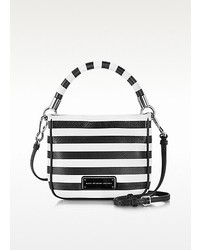 Too hot to handle hoctor black and white stripe leather crossbody bag medium 125326