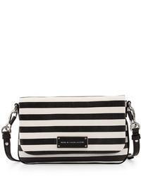Too hot to handle striped crossbody bag black multi medium 125324