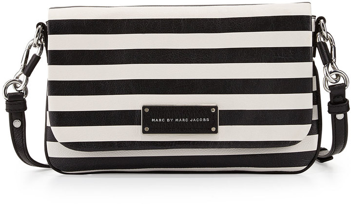 Marc by Marc Jacobs Too Hot To Handle Striped Crossbody Bag Black ...