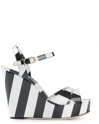 Dolce & Gabbana Striped Wedge Sandals