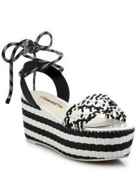 Naomi woven leather platform espadrille ankle tie sandals medium 3941711