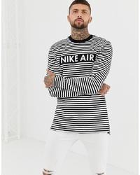 Nike Air Striped Long Sleeve Top In Black 930461 101