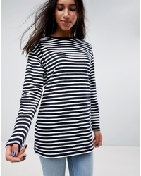 ASOS DESIGN Asos Stripe T Shirt With Long Sleeve In Oversize Fit