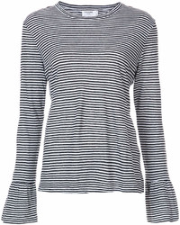 Denim striped longlseeved t shirt medium 6989776