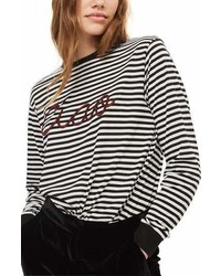 Embroidered ciao stripe tee medium 6989788