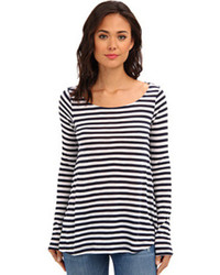Splendid Glen Valley Stripe Long Sleeve Swing T Shirt