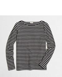 J.Crew Factory Long Sleeve Striped Boatneck T Shirt