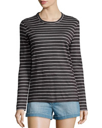 Karon long sleeve dublin striped tee black medium 379439