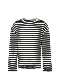 Juun.J Long Sleeve Stripe T Shirt