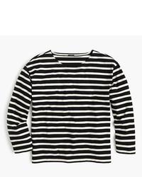 Long sleeve striped crewneck t shirt medium 536065