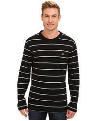 Lacoste Ls Pique Stripe Crew Neck T Shirt