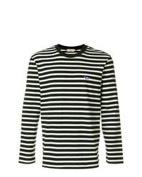 MAISON KITSUNÉ Maison Kitsun Long Sleeve Stripe T Shirt