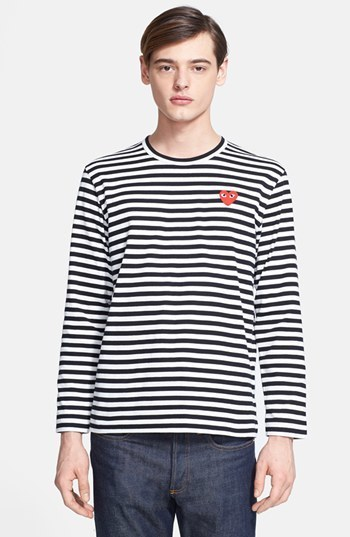 d5c7533f Comme des Garcons Play Stripe Long Sleeve T Shirt, $166 | Nordstrom ...