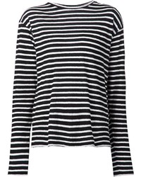 R 13 R13 Long Sleeve Striped T Shirt