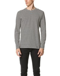 The Kooples Sport Striped Long Sleeve Tee