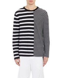 black and white striped shirt long sleeve mens