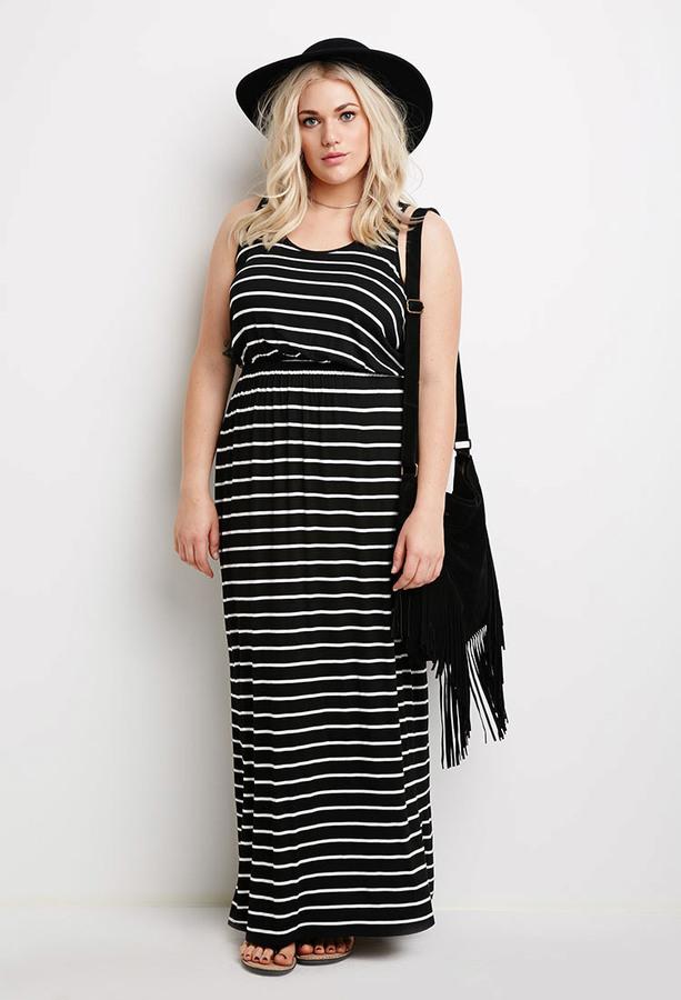 65e8ca70a77 Forever 21 Plus Size Striped Maxi Dress