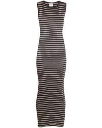 Stripe sleeveless maxi dress medium 71028