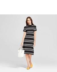 K By Kersh Striped Midi Dress K By Kersh Blackwhite