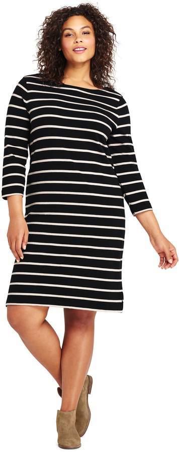 $59, Lands\' End Landsend Plus Size 34 Sleeve Sailor T Shirt Dress