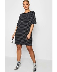 Plus helen striped t shirt dress medium 6988047