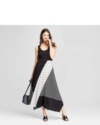 Spenser Jeremy Multi Stripe Knit Midi Dress Spenser Jeremy Blackwhite