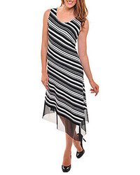 Striped midi dress medium 160583